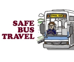Travel safely on buses — respect your peers, the driver and community